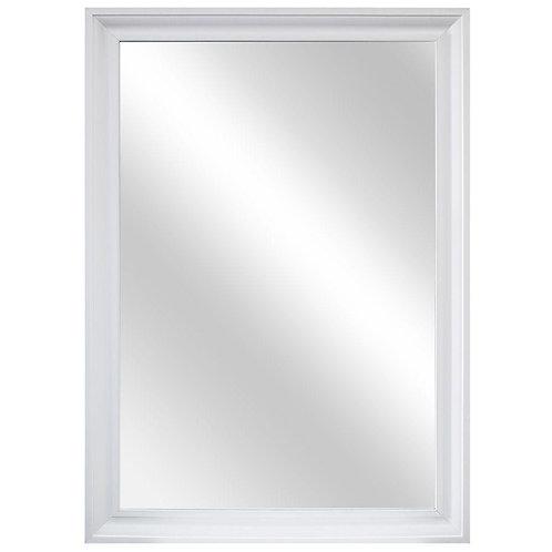 29 in. W x 40 in. L Framed Fog Free Wall Mirror in White