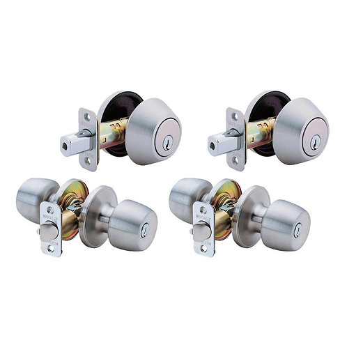 Defiant Brandywine Single Cylinder Entry Stainless Steel Project Pack