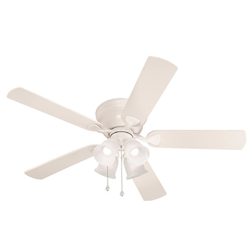 Harbor Breeze Centreville 52-in White Indoor Flush Mount Ceiling Fan with Light