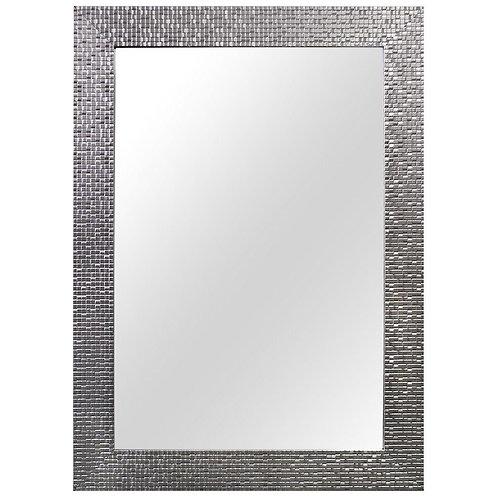 24 in. W x 35 in. L Framed Fog Free Wall Mirror in Silver