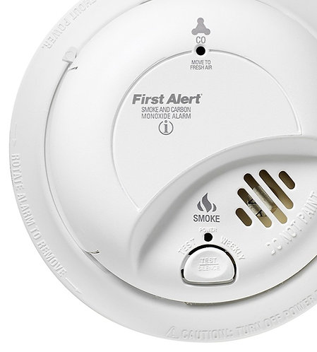 First Alert AC Hardwired Combination Smoke and Carbon Monoxide Detector with Bat