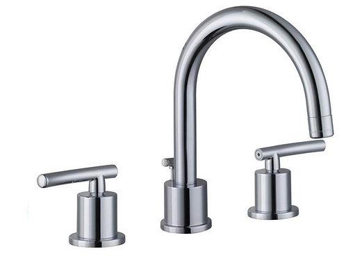 GB Dorset 8 in Widespread 2 handle High-Arc Bathroom Faucet Chrome