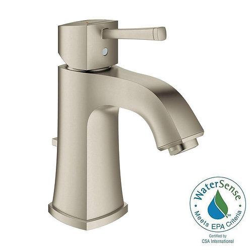 GROHE Grandera Single Hole Single-Handle Bathroom Faucet in Brushed Nickel Infin
