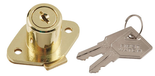 """First Watch 1356 Rim Lock For Cabinet / Drawer Up To 1-1/8"""" Thick - Keyed Differ"""