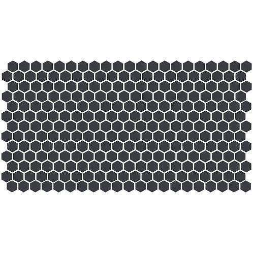 Daltile Keystones Unglazed Black 12 in. x 24 in. x 6 mm Porcelain Hexagon Mosaic
