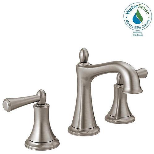 Delta Rila 8 in. Widespread 2-Handle Bathroom Faucet in SpotShield Brushed Nicke