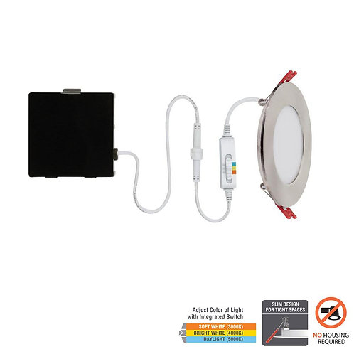CE Ultra Slim 4in. Selectable New Construction and Remodel Canless Recessed Inte