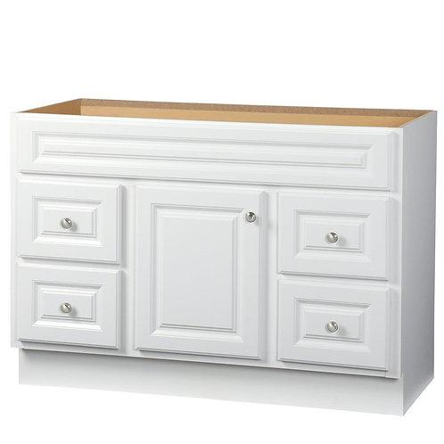 Hampton 48 in. W x 21 in. D x 33.5 in. H Bath Vanity Cabinet Only in White