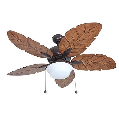 Harbor Breeze Waveport 52-in Weathered Bronze Indoor/Outdoor Downrod Ceiling Fan