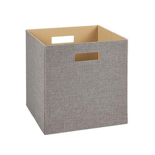 ClosetMaid 13 in. H x 13 in. W x 13 in. D Decorative Fabric Storage Bin in Gray