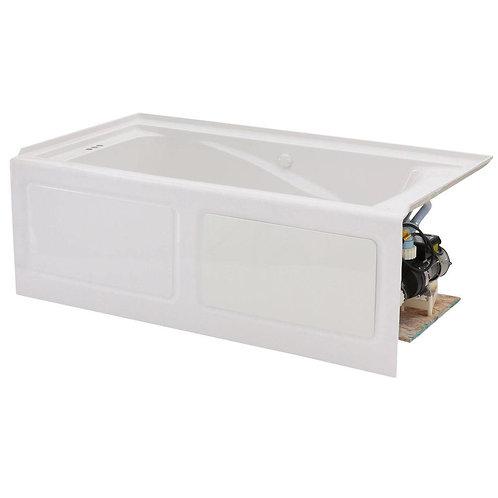 American Standard EverClean 60 in. x 32 in. Left Drain Whirlpool Tub in White
