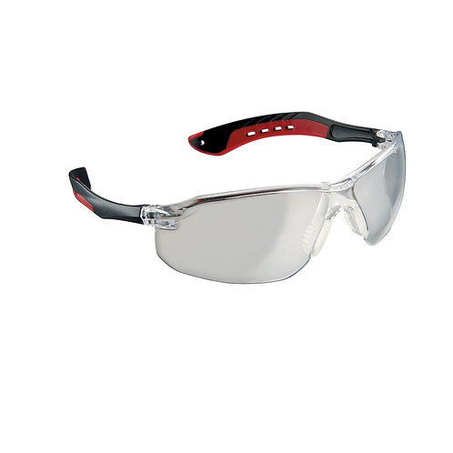 3M    Black/Red Frame with Clear Scratch Resistant Lens Flat Temple Safety Eyewe