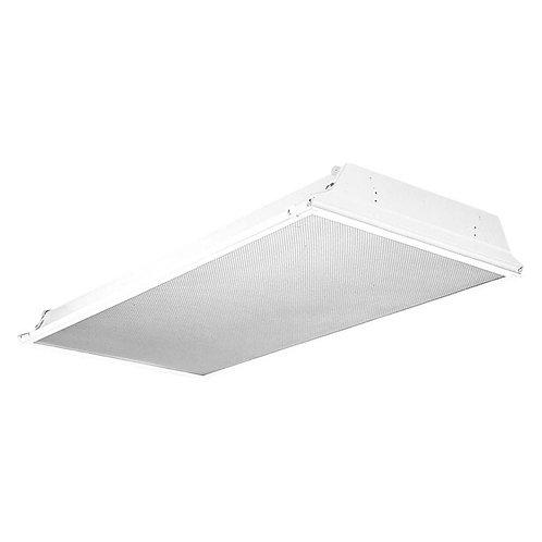 2 ft. x 4 ft. White LED Prismatic Backlit Grid Ceiling Troffer