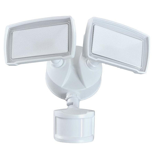 Good Earth Lighting 180-Degree 2138-Lumen White Integrated LED Motion-Activated