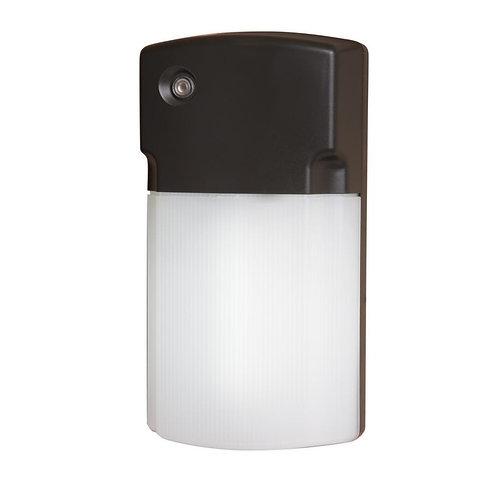 HALO Bronze Outdoor LED Wall Pack Light-Dusk/Dawn Photocell Sensor