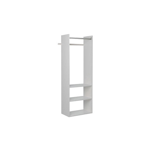 14 in. D x 25.25 in. W x 72 in. H Classic White Wood Hanging Starter Closet Kit