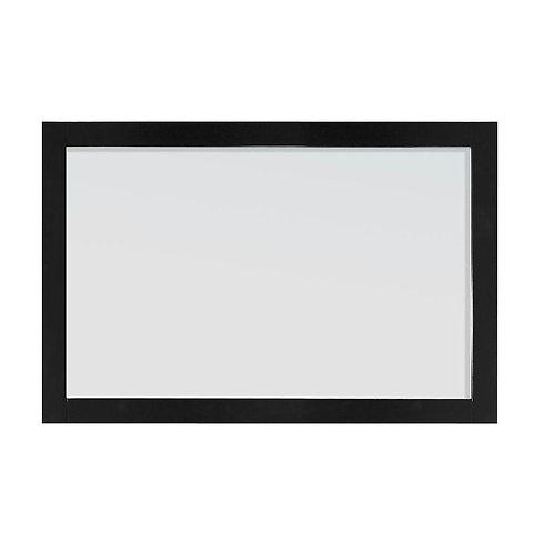 Belle Foret Rose 24 in. L x 36 in. W Framed Wall Mirror in Black