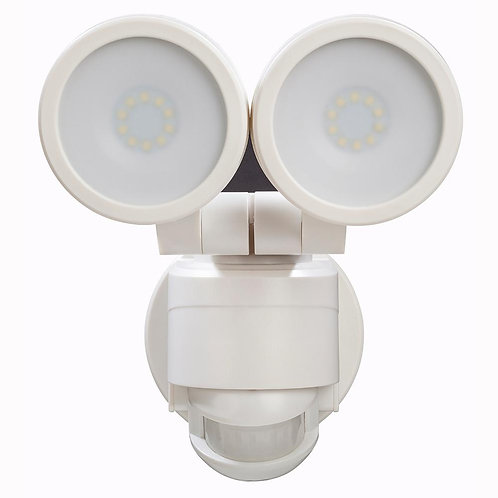 D180 Degree White Motion Activated Outdoor Integrated LED Twin Head Floodefiant