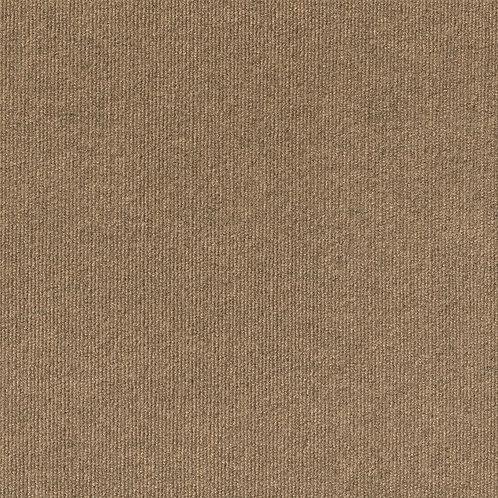Foss Premium Self-Stick Chestnut Ribbed Texture 18 in. x 18 in. Carpet Tile