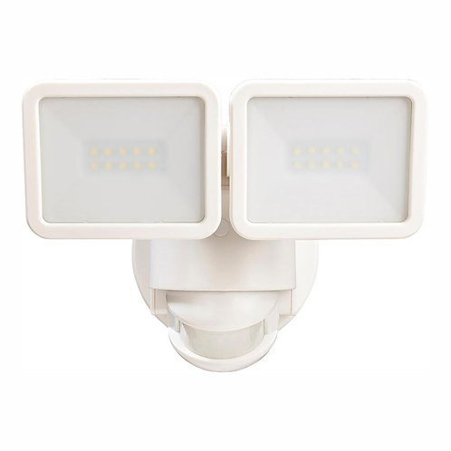 Defiant 180 Degree White Motion Activated Outdoor Integrated LED Flood Light Twi