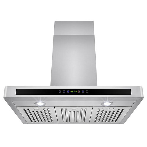 AKDY 30 in. Convertible Kitchen Wall Mount Range Hood in Stainless Steel with LE