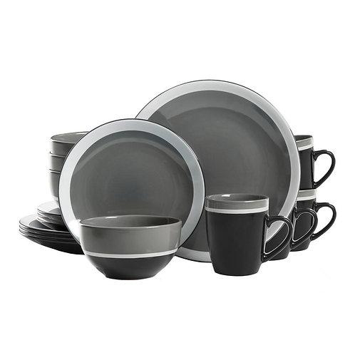 Gibson Color Eclipse 16-Piece Gray Dinnerware Set