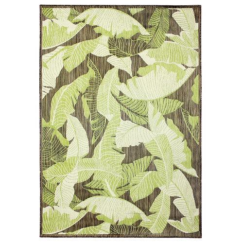 HB Leaves Green 7 ft. x 11 ft. Indoor/Outdoor Area Rug