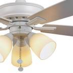 Hampton Bay Vaurgas 44 in. LED Matte White Ceiling Fan