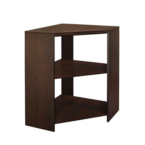 ClosetMaid Impressions 28.7 in. x 28.7 in. x 41.1 in. Chocolate Wood Corner Unit
