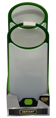 Defiant 2-Pack Thin LED Lanterns 150 Lumen Metal Frame Batteries Included