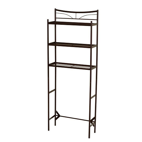 Hawthorne 24-1/2 in. W x 65 in. H x 9-1/2 in. D Metal 3-Shelf Over the Toilet St