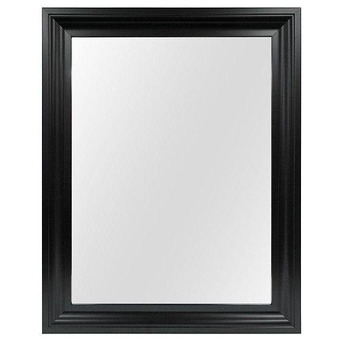 22 in. W x 29 in. L Framed Fog Free Wall Mirror in Black