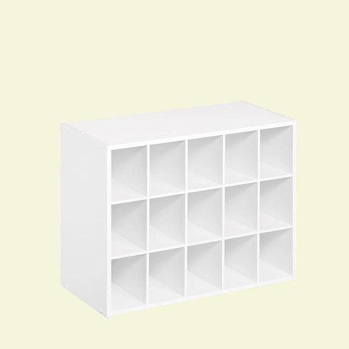 ClosetMaid 24 in. W x 19 in. H White Laminate 15-Cube Organizer