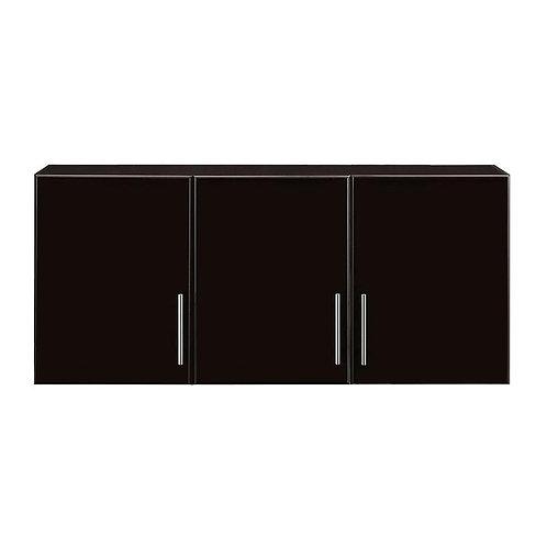 3-Door Wall Cabinet Wood Closet System in Espresso