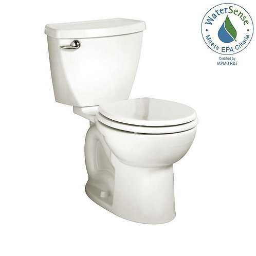 Cadet 3 Tall Height Complete 2-Piece 1.28 GPF Single Flush Round Toilet in White