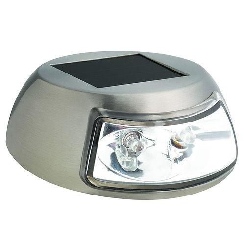 HB  2-Light Stainless Steel Outdoor Integrated LED Solar Step Light (4-Pack)
