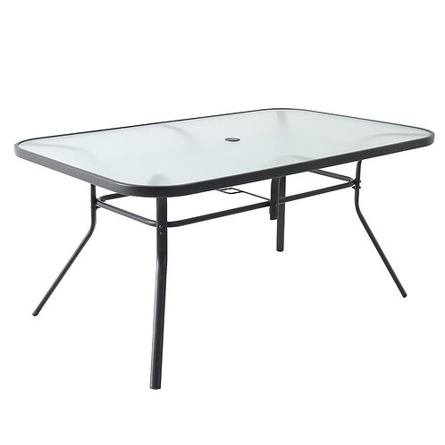 Garden Treasures Pelham Bay Rectangle Dining Table 38-in W X 60-in L with Umbrel