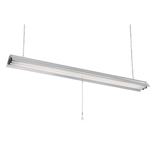 Commercial Electric 2-Light 48 in. Gray Textured Fluorescent Shop Light
