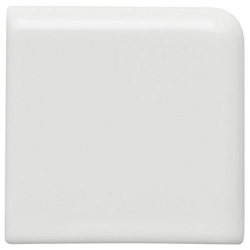 Daltile - Restore Bright White 2 in. x 2 in. Ceramic Bullnose Corner Wall Trim T