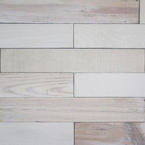 Deco Planks Light House White Washed 1/2 in. x 4 in. Wide x 24 in. Length Solid