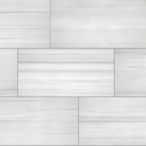 Florida Tile Home Collections Milano Lasa White Rectified 12 in. x 24 in. Porcel