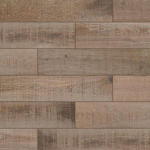 Bentonwood Cocoa 6 in. x 26 in. Ceramic Floor and Wall Tile