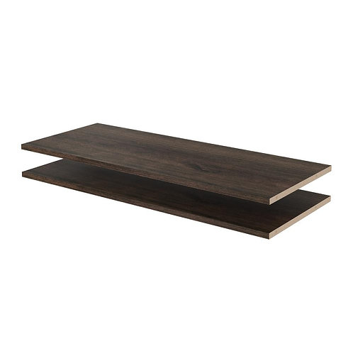 35 in. x 14 in. Espresso Wood Shelves (2-Pack)