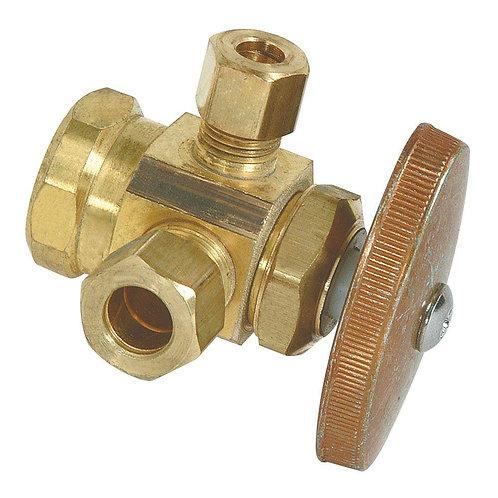 BrassCraft 1/2 in. FIP Inlet x 3/8 in. O.D. Compression x 1/4 in. O.D. Compressi