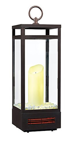 """Duraflame 10ILH120-01 29"""" Portable LED Electric Flameless Candle Lantern with I"""