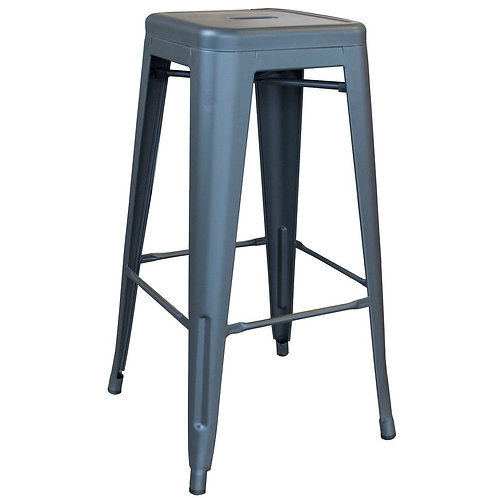 29IN METAL STOOL  - WITH WOOD TOP