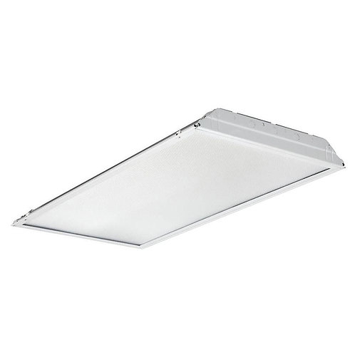 2 ft. x 4 ft. White LED Lay-In Troffer with Prismatic Lens
