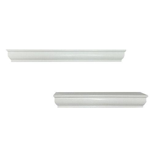 Floating White Ledge (2-Piece)