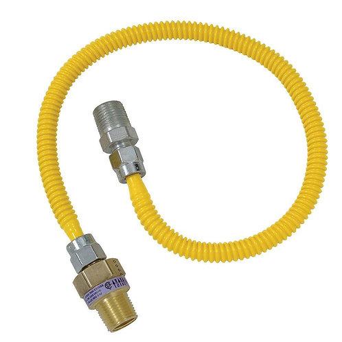 BrassCraft Safety+PLUS 1/2 in. MIP Excess Flow Valve x 3/8 in. MIP x 36 in. Gas