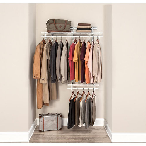 ClosetMaid ShelfTrack 2 ft. to 4 ft. White Wire Closet Organizer Kit